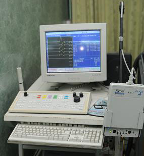 EMG machine for accurate identification of muscles for Botulinum Toxin injection